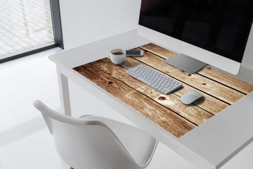 Vintage-Holz-Schreibtischunterlage