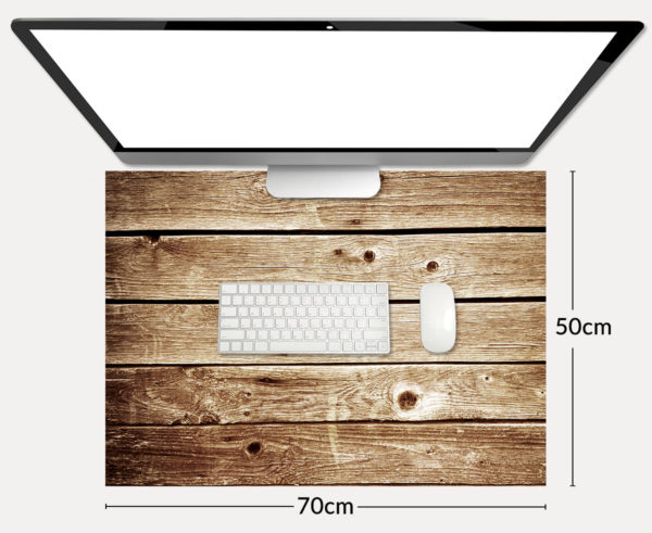 Top view of computer and keyboard, mouse with blank screen on grey table, Mock up template for adding your content,Digital business concept.