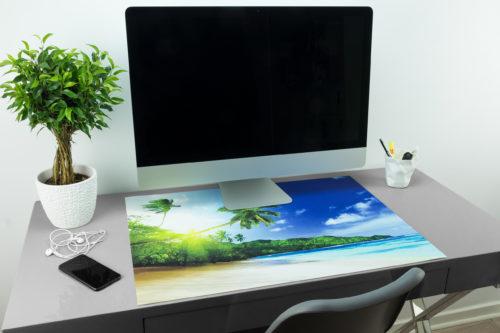 Schreibtischunterlage Mit Palmen Und Strand