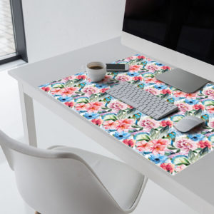 Blumen & Vögel Schreibtischunterlage