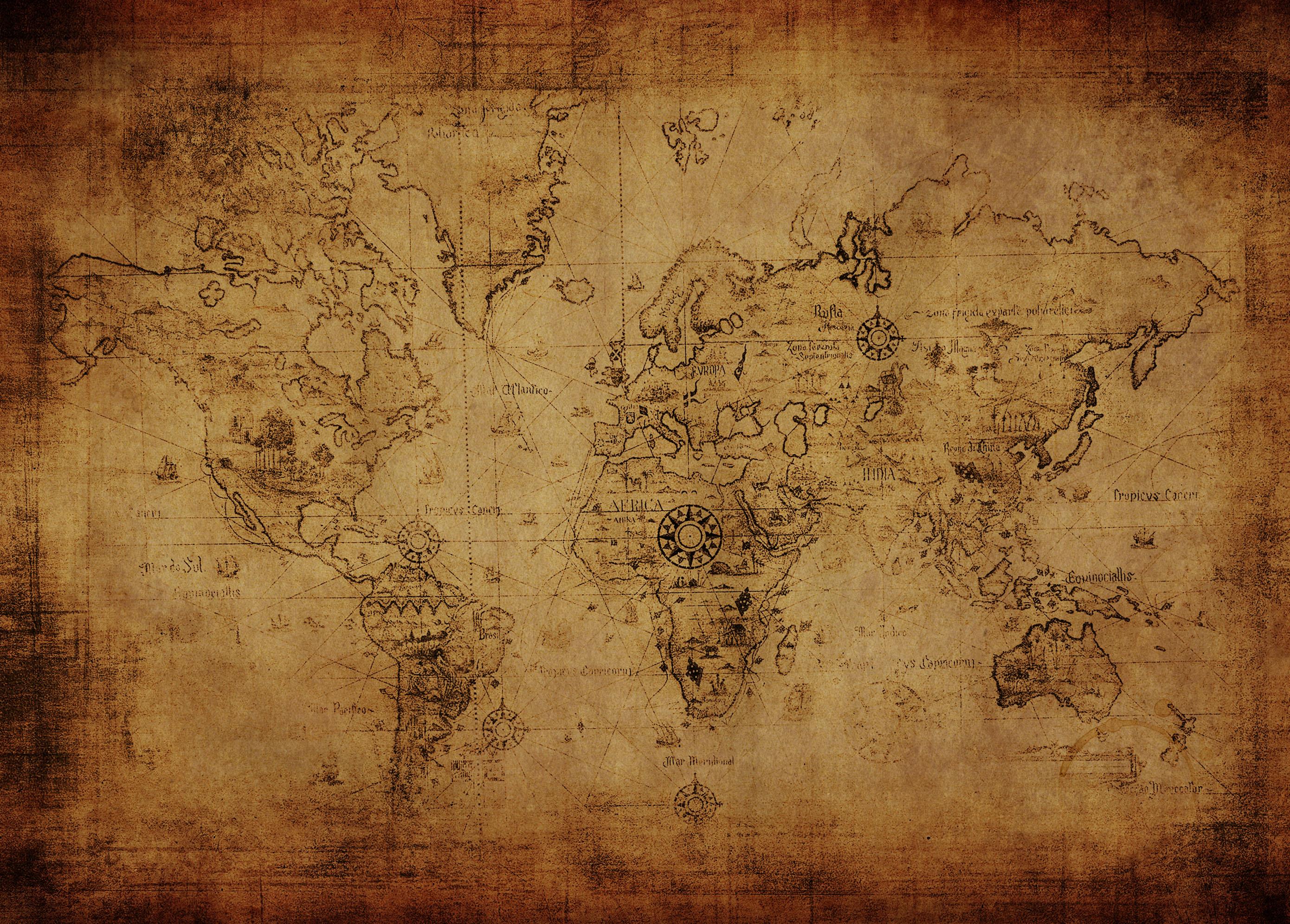alte landkarte Schreibtischunterlage alte Landkarte auf Papier  alte landkarte