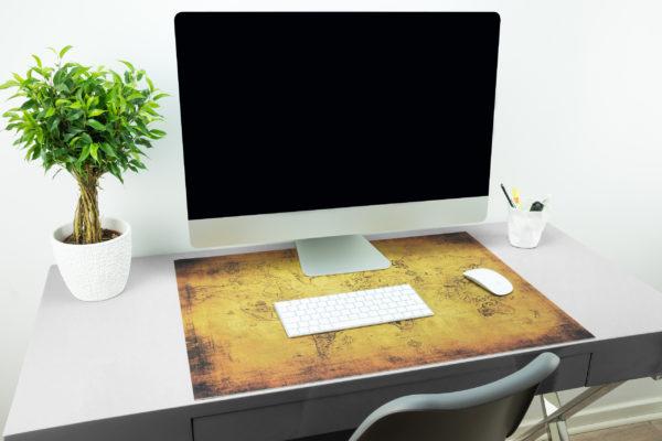 Schreibtischunterlage alte Landkarte
