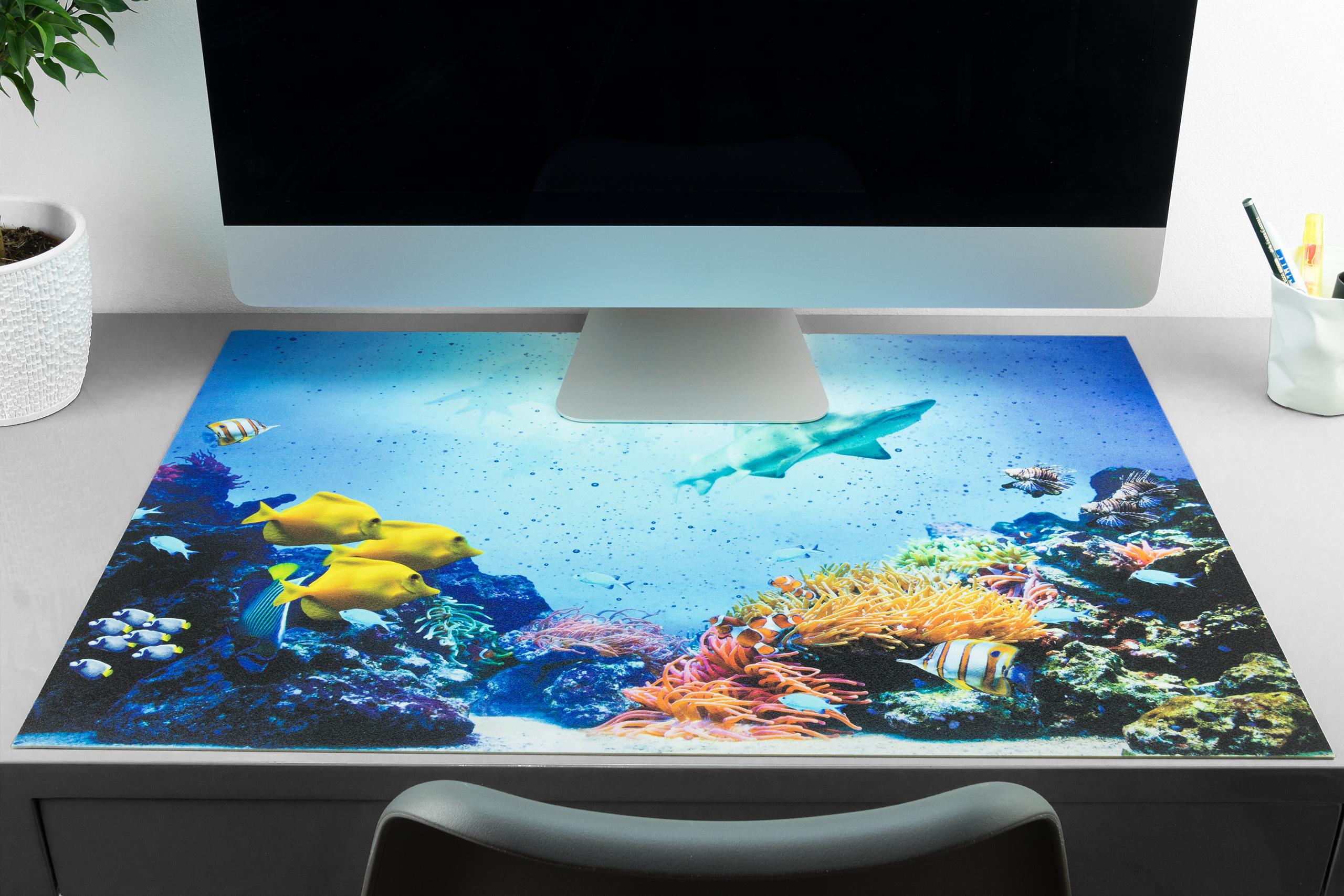 Schreibtischunterlage Unterwasserwelt Mit Fischen