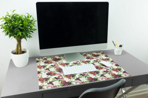 Vintage-Schreibtischunterlage Mit Blumenmuster