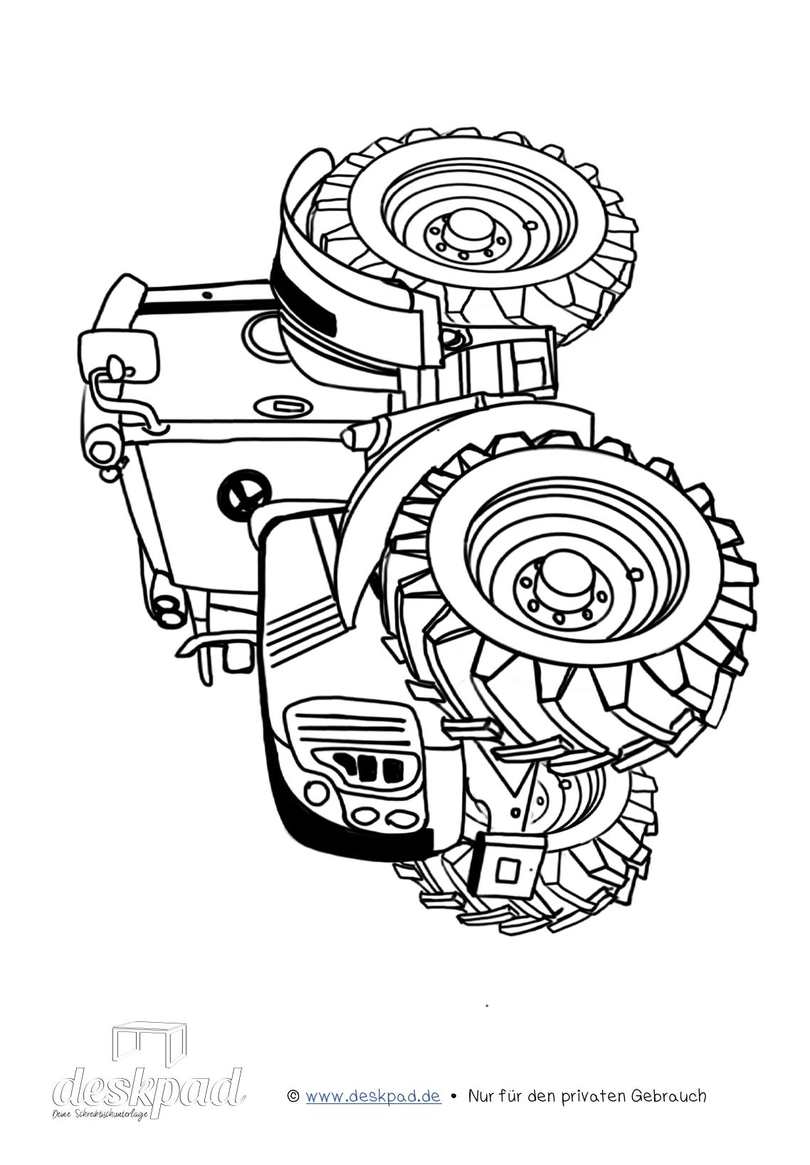 ausmalbild tracktor